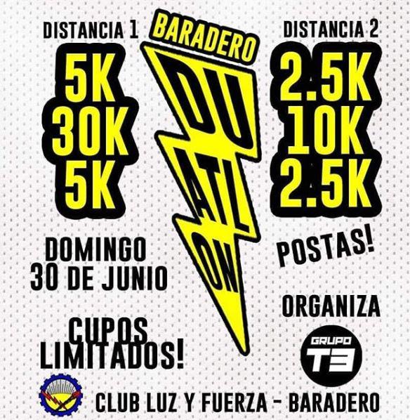 Duatlón Baradero el 30-06-19
