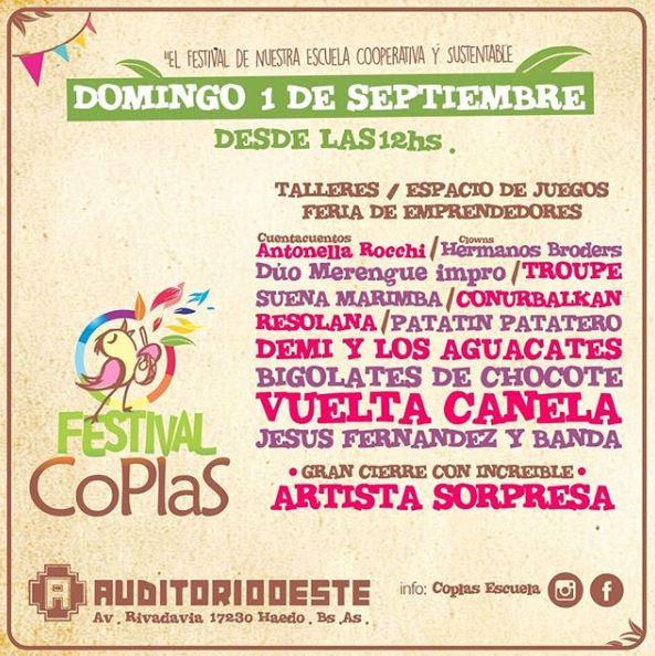 FESTIVAL COPLAS 1 DE SEPTIEMBRE 2019